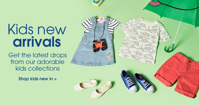 Kids new arrivals. Get the latest drops from our adorable kids collection. Shop kids new in.