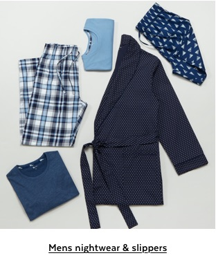Mens nightwear and slippers