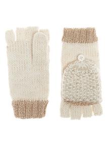 Lurex Knitted Mittens
