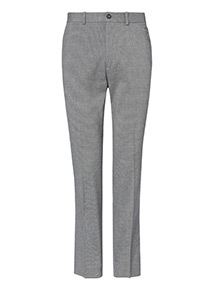 Grey Mini Dogtooth Slim Fit Trousers