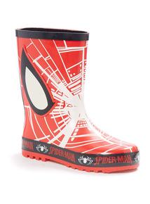 Red Disney Spiderman Wellies