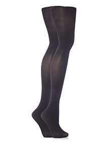 Black Bodyshaping Opaque Tights 2 Pack