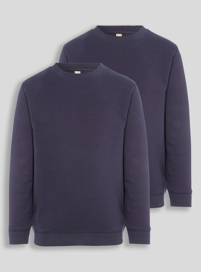 Navy Crew Sweatshirts 2 Pack (3-12 years)
