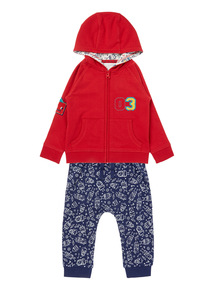 Boys Red Hoody And Joggers Set (0-24 months)
