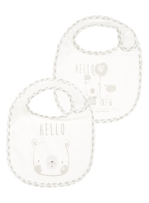 White Bear Bibs 2 Pack (0-24 months)