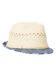 White Chambray Trilby Hat (1-14 years)