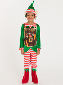 Christmas Santa's Helper Fancy Dress Costume (1-10 Years)