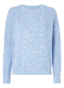 Mesh Cable Slouchy Jumper