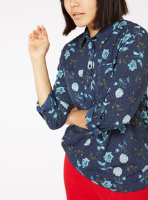 Online Exclusive Floral and Polka Shirt