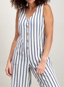 ac86f56bea Online Exclusive Blue   Cream Striped Slouch Jumpsuit