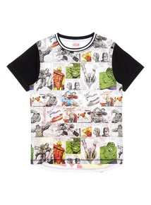 Multicoloured Marvel Comic Book Tee (3 - 12 years)