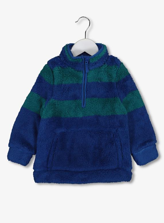 84933659cb Kids Blue   Green Stripe Half Zip Fleece (1-6 years)