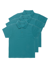 Unisex Jade Cotton Rich Polo Tops 3 Pack (2-12 Years)