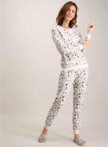 Christmas Grey Novelty Printed Pyjamas