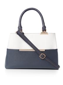 Multicoloured Colour Block Handbag