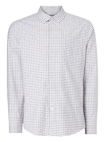Pink Tattershall Check Stretch Shirt