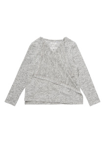 Girls Grey Waterfall Cardigan (3-12 years)