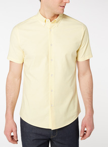 Yellow Slim Fit Oxford Shirt With Stretch