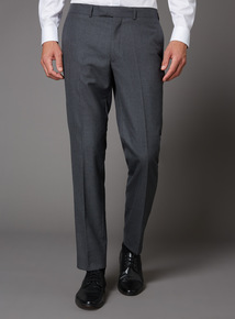 Online Exclusive Grey Slim Fit 100% British Wool Suit Trousers