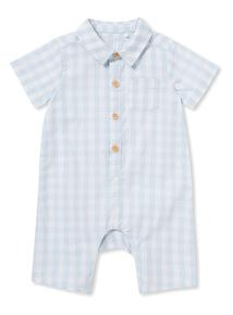Blue Gingham Woven Romper (Newborn-12 months)