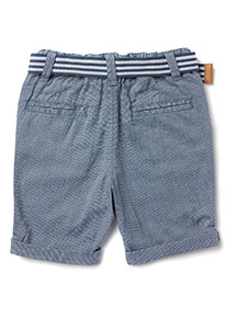 Blue Belted Shorts (9 months-6 years)