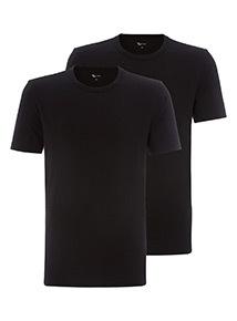 2 Pack Black T-Shirt Vests