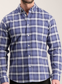 Blue Check Regular Fit Oxford Shirt