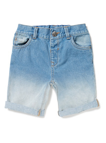 Blue Denim Ombre Shorts (9 months-6 years)