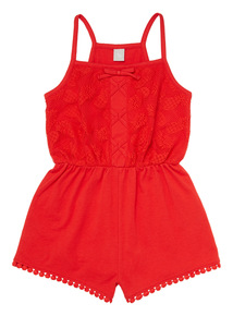Red Lace Playsuit (3 - 12 years)