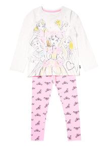 Pink Disney Princess Pyjama Set (18 months-10 years)