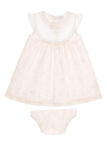 Girls Pink Peter Rabbit Dress And Briefs 2 Pack (0 - 12 months)