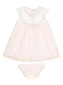 Girls Pink Peter Rabbit Dress And Briefs 2 Pack (0 - 12 months)