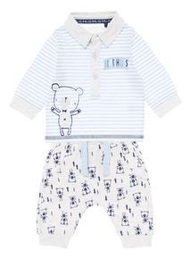 Boys Blue Bear Jogger Set (0-24 months)