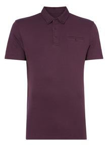 Purple Mercerised Polo