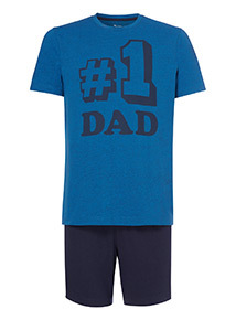 Father's Day Blue 'No.1 Dad' Pyjamas