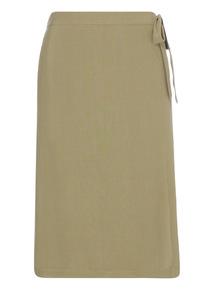 Khaki Wrap A-line Skirt