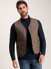 Brown Quilted Gilet Liner