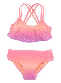 Multicoloured Pineapple Ombre Lasercut Bikini (3 - 12 years)