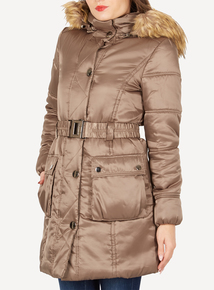 DAVID BARRY Gold Padded 3/4 Coat