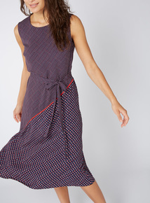 Multicoloured Polka Dot Print Dress