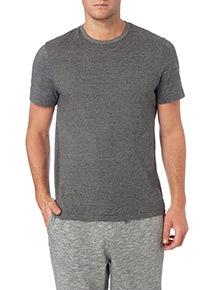 Grey Fine Stripe Short Sleeve Tee