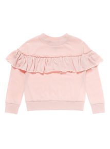 Pink Frill Sweat Top (3-10 years)