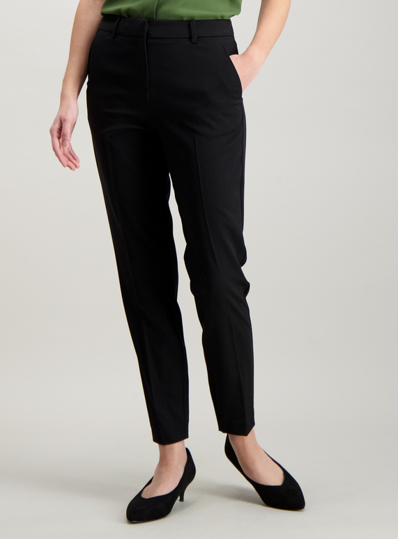 2336c7352a5e Womens Black Tapered Leg Trousers | Tu clothing