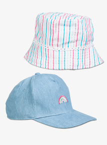 Multicoloured Cap   Sun Hat 2 Pack (1-9 years) f71443632228
