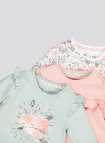 Multicoloured Forest Print Tops 3 Pack (0-24 Months)
