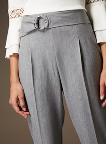 Premium Eyelet Belt Detail Trousers