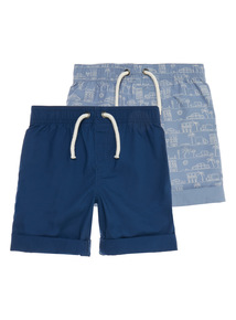 Poplin Shorts 2 Pack (9 months - 6 years)