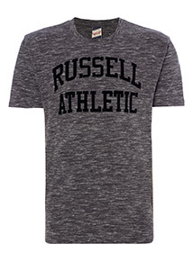 Online Exclusive Russell Athletic Charcoal Space Dye Tee