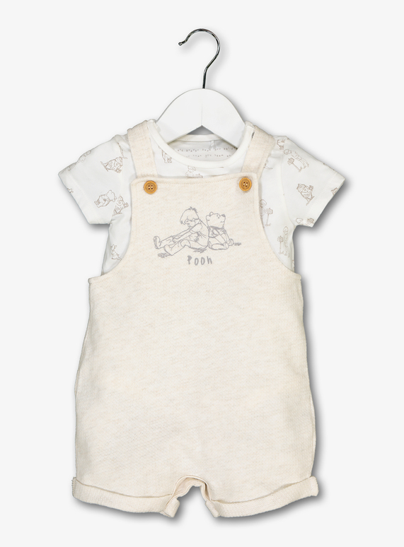 3967e676e Baby Disney Winnie The Pooh White Dungaree Set (0-24 Months) | Tu clothing