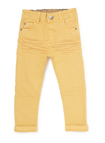 Mustard Yellow Washed Denim Jeans (9 months-6 years)